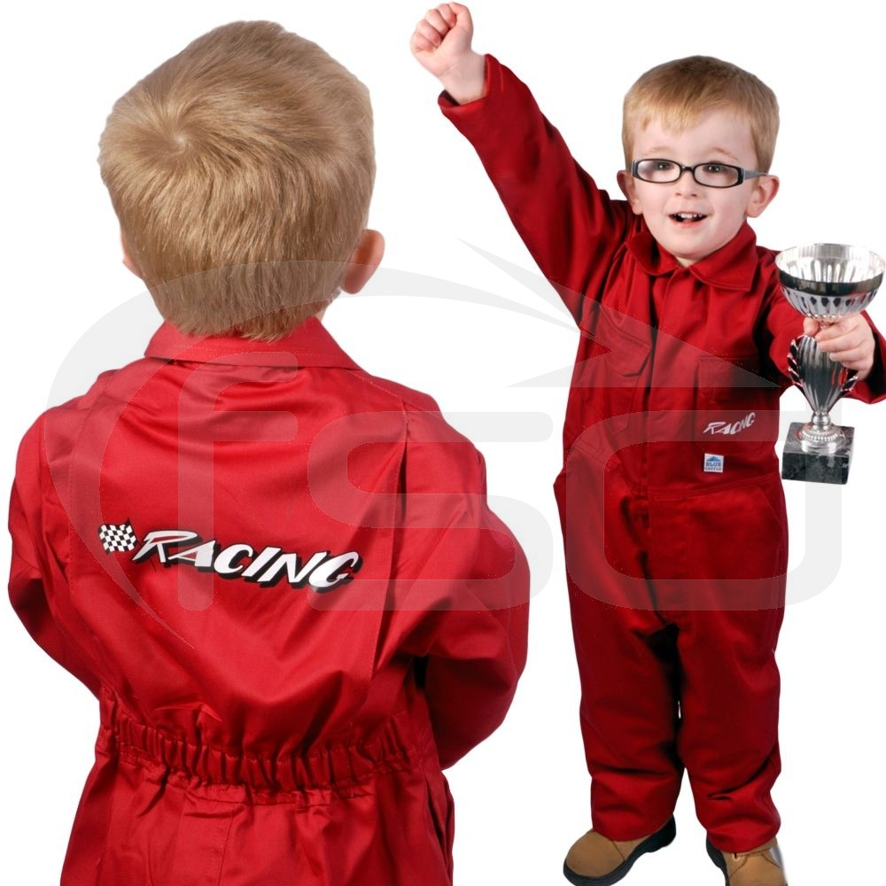"""Clearance Kids """"Racing"""" Coveralls (Size 34""""/86cm) - Brand New - End of Line 1 left in this size"""