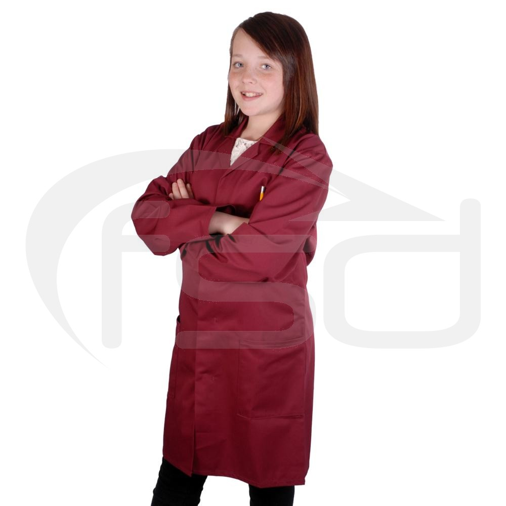 Kids Work Coat (Maroon)
