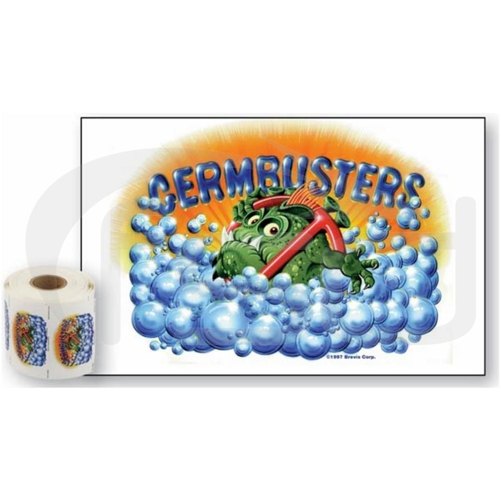 Pack of 50 Germbusters Stickers