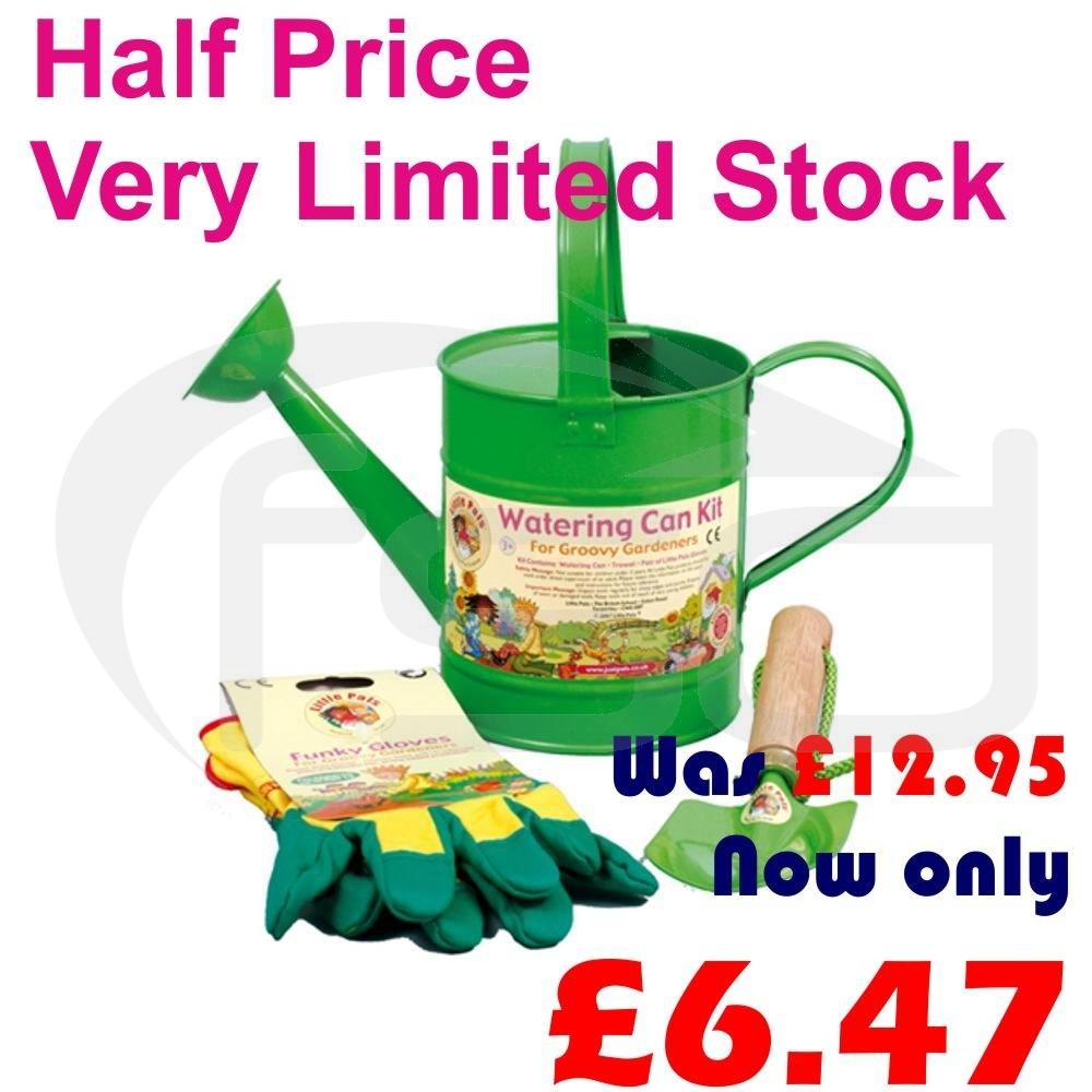 Metal Watering Can Kit (Green)