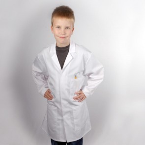 "Kids Lab Coat - 66cm (26"") - Yellow Stain on back"