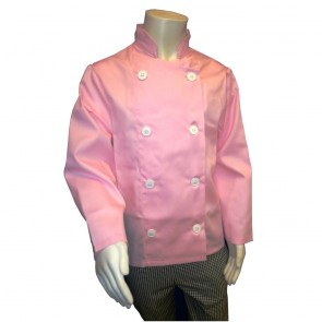 """Kids Chef Jacket (Pink) - 76cm (30"""") - Brand new but with chipped button otherwise perfect."""