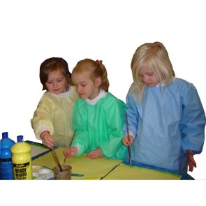 Kids Disposable Smocks (Blue) - Age 4-6 (4XS)