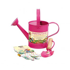 Metal Watering Can Kit (Pink)