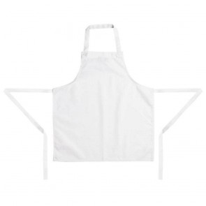 Childrens Bib Apron White