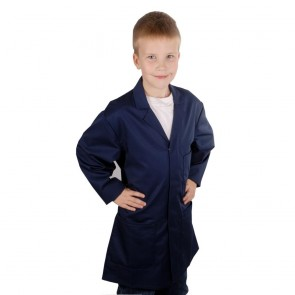Clearance Kids DARK NAVY Castle Lab Coat (Size 13 years) - End of line - brand new