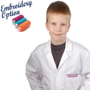 Embroidered Kids Lab Coat