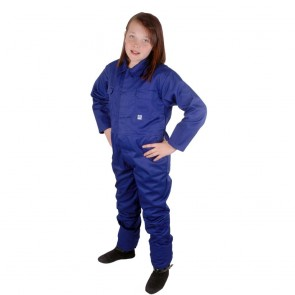 "Clearance Kids Royal Blue Coveralls (Size 32""/10-11 years) - Brand New - Customer Return"