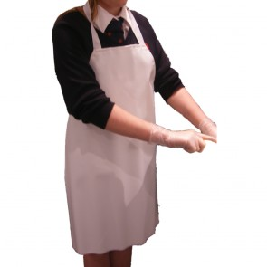 Junior PVC Apron (White) - Clearance - Slight Discolouration