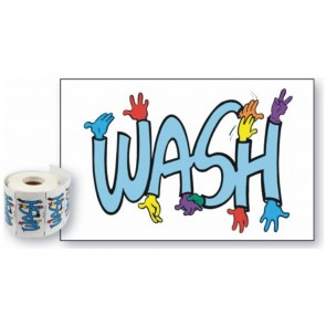 Pack of 50 Wash Stickers
