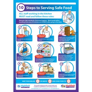 10 Steps to Serving Safe Food Poster